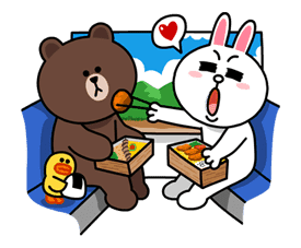 Brown & Cony's Lovey Dovey Date sticker #15081