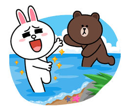Brown & Cony's Lovey Dovey Date sticker #15083