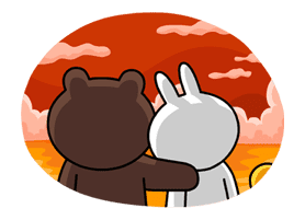 Brown & Cony's Lovey Dovey Date sticker #15085