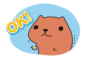 KAPIBARA-SAN sticker #6254
