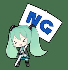 Hatsune Miku sticker #7606