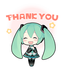 Hatsune Miku sticker #7609