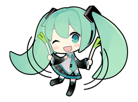 Hatsune Miku sticker #7625