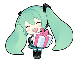 Hatsune Miku sticker #7626