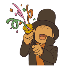 Professor Layton sticker #9369