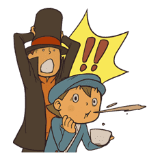 Professor Layton sticker #9373