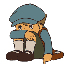 Professor Layton sticker #9387