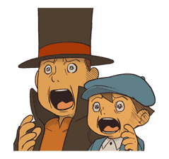 Professor Layton sticker #9406