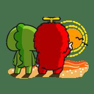 Gachapin & Mukku sticker #1866