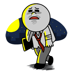 Moon: Salaryman Special sticker #3014