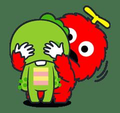 Gachapin & Mukku 2 sticker #11899