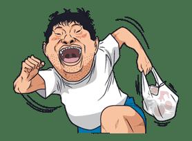 Ike! Inachu Takkyu-bu sticker #7687