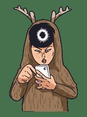 Ike! Inachu Takkyu-bu sticker #7708