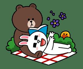 Brown & Cony's Secret Date! sticker #4001