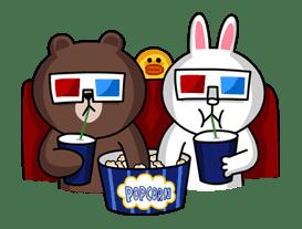 Brown & Cony's Secret Date! sticker #4003