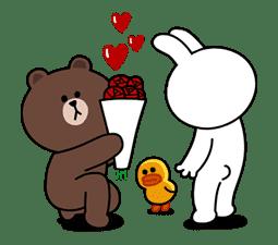 Brown & Cony's Secret Date! sticker #4007