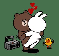 Brown & Cony's Secret Date! sticker #4009