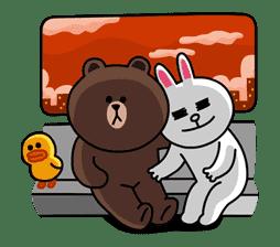 Brown & Cony's Secret Date! sticker #4024
