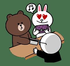 Brown & Cony's Secret Date! sticker #4034
