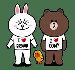 Brown & Cony's Secret Date! sticker #4037