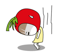 The girl of Tomato sticker #54534