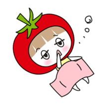 The girl of Tomato sticker #54536