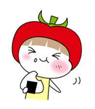 The girl of Tomato sticker #54539