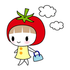 The girl of Tomato sticker #54542