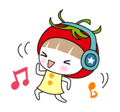The girl of Tomato sticker #54543