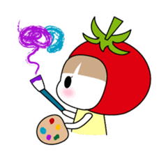 The girl of Tomato sticker #54544
