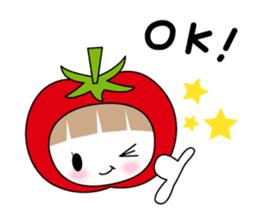The girl of Tomato sticker #54550
