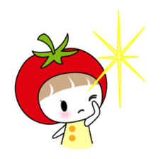 The girl of Tomato sticker #54551
