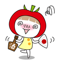 The girl of Tomato sticker #54556