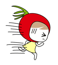 The girl of Tomato sticker #54559
