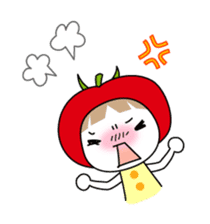 The girl of Tomato sticker #54562