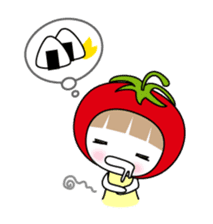 The girl of Tomato sticker #54563