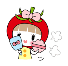 The girl of Tomato sticker #54566