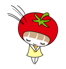 The girl of Tomato sticker #54568