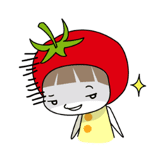 The girl of Tomato sticker #54569