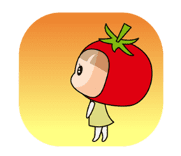 The girl of Tomato sticker #54571