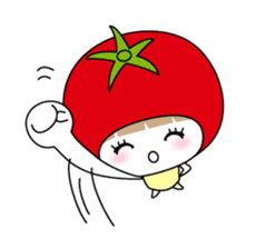 The girl of Tomato sticker #54572