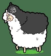 Creepy Funny Alpaca sticker #54701