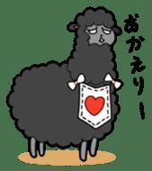 Creepy Funny Alpaca sticker #54702