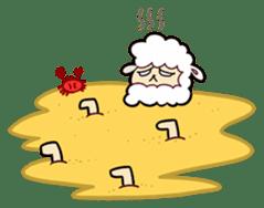 Creepy Funny Alpaca sticker #54704