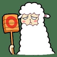 Creepy Funny Alpaca sticker #54705