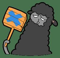 Creepy Funny Alpaca sticker #54706