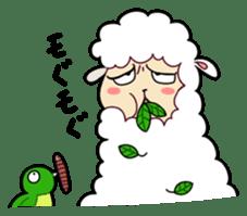 Creepy Funny Alpaca sticker #54718