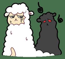 Creepy Funny Alpaca sticker #54723