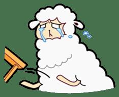 Creepy Funny Alpaca sticker #54724