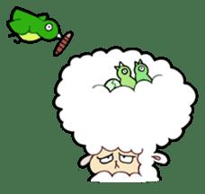 Creepy Funny Alpaca sticker #54725